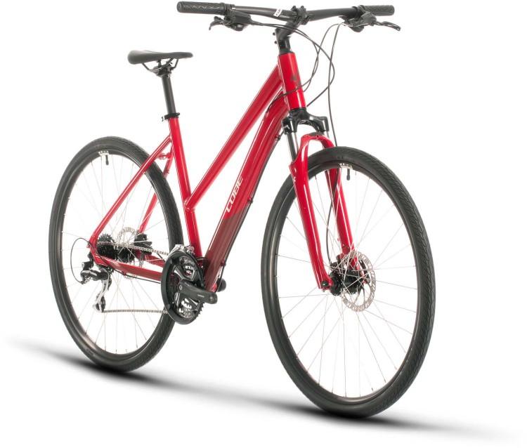 Cube Nature red n grey 2020 - Crossrad Damen