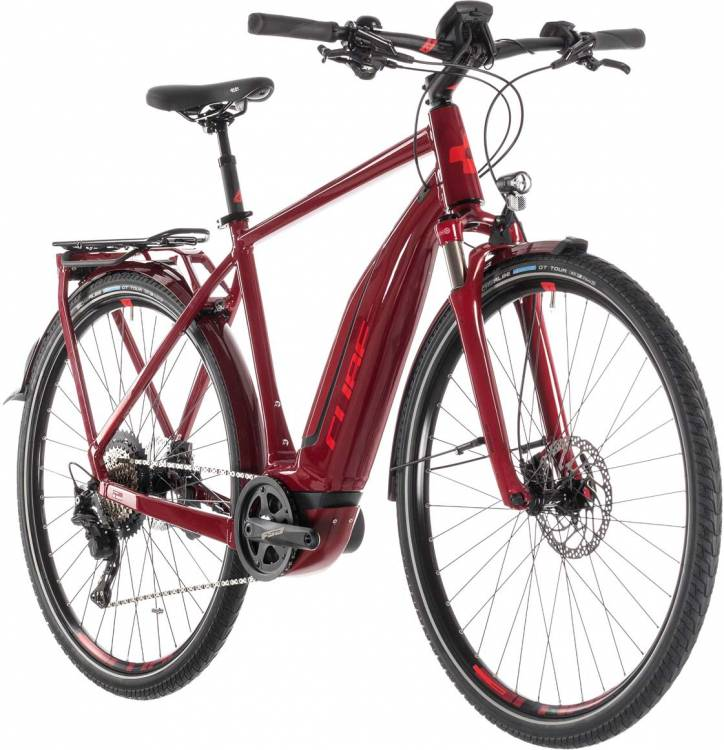Cube Touring Hybrid EXC 500 darkred n red - Herren 2019 - Lackschaden