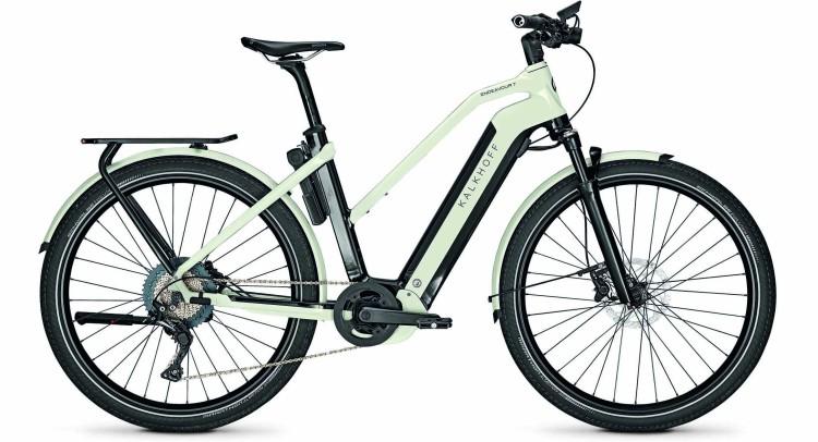Kalkhoff Endeavour 7.B Advance magicblack/starwhite glossy (Trapez) 2021 - E-Bike Trekkingrad Damen
