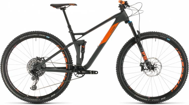 Cube Stereo 120 HPC TM 29 grey n orange 2020 - Fully Mountainbike