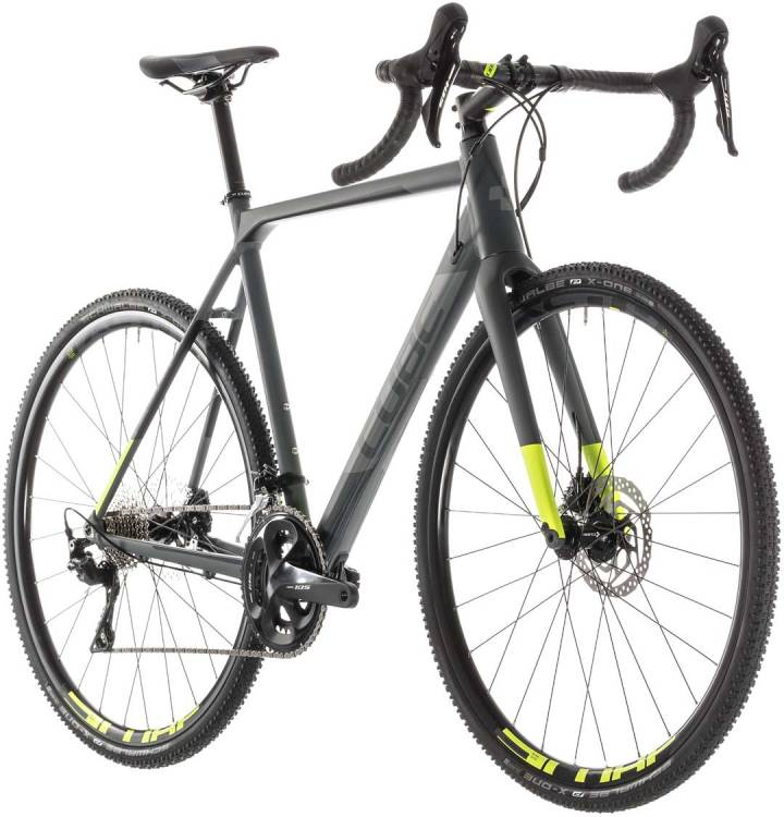 cube cross race pro grey n flashyellow 2019 cyclocrossbike g nstig online kaufen mhw. Black Bedroom Furniture Sets. Home Design Ideas