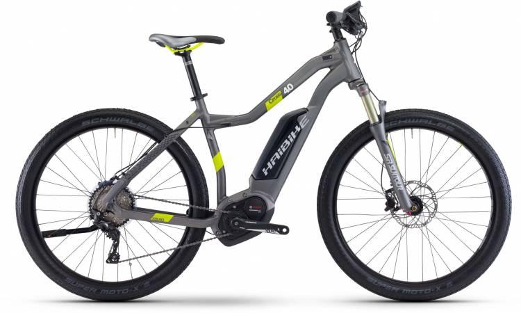 Haibike XDURO Cross 4.0 500Wh titan/lime matt 2017 - Damen Trapez E-Bike Crossrad
