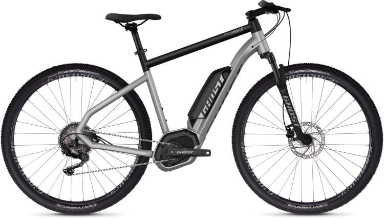 Ghost Hybride Square Cross B2.9 AL U iridium silver / jet black 2020 - E-Bike Crossrad Herren