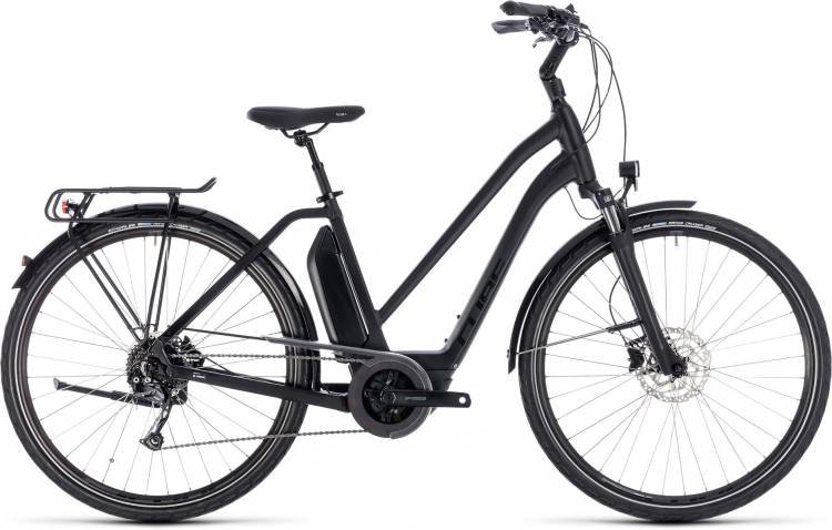 Cube Town Hybrid Sport 500 black edition 2018 - Damen Trapez E-Bike Trekkingrad