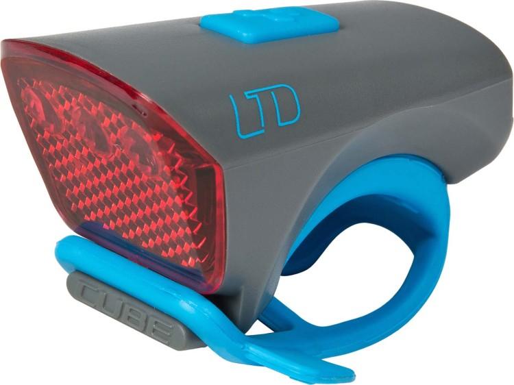 "Cube Outdoor Licht LTD ""Red LED"" grey n blue"