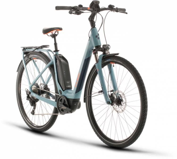 Cube Touring Hybrid EXC 500 blue n orange 2020 - E-Bike Trekkingrad Tiefeinsteiger