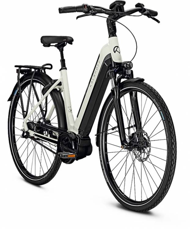 Kalkhoff Image 5.B Belt starwhite/magicblack glossy (Wave) 2020 - E-Bike Trekkingrad Tiefeinsteiger