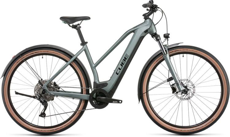 Cube Nuride Hybrid Pro 625 Allroad silvergreen n black 2022 - E-Bike Hardtail Mountainbike Damen