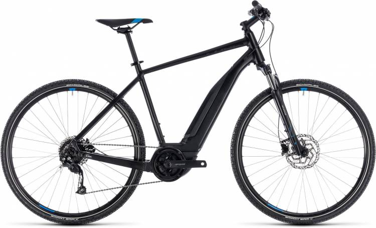 Cube Cross Hybrid ONE 400 black n blue 2018 - Herren E-Bike Crossrad