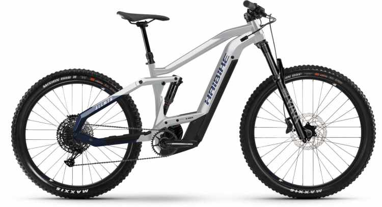 Haibike AllMtn 3 i625Wh sparkling white/blue 2021 - E-Bike Fully Mountainbike