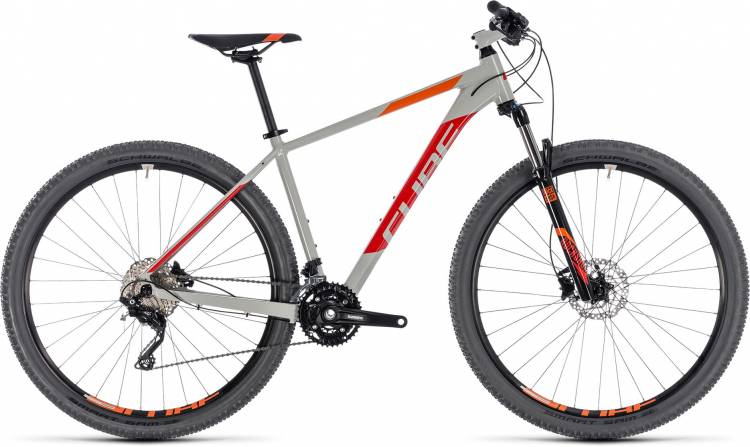 Cube Attention grey n red 2018 - Hardtail Mountainbike