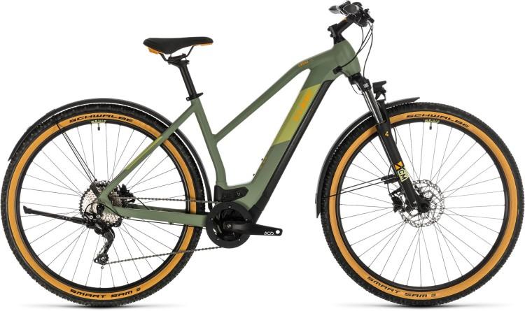 Cube Cross Hybrid Pro 625 Allroad green n orange 2020 - E-Bike Crossrad Damen
