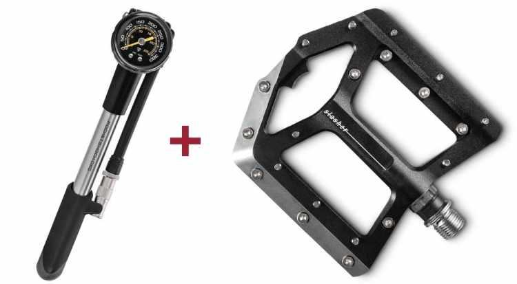 Cube Pedale SLASHER + ACID Dämpferpumpe RACE SHOCK 300 black