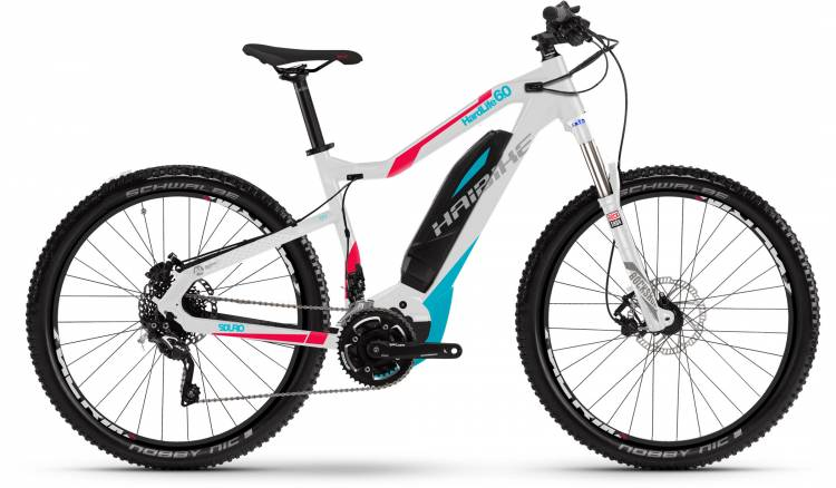 Haibike SDURO HardLife 6.0 500Wh weiß/peach/cyan 2017 - Damen E-Bike Hardtail Mountainbike