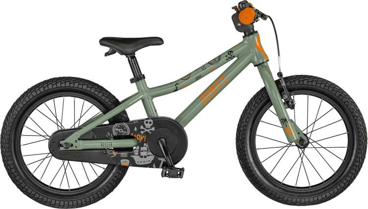 Scott Roxter 16 olive / orange / black 2021 - Kinderrad 16 Zoll