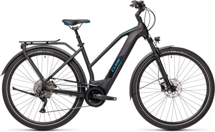 Cube Kathmandu Hybrid Pro 500 black n blue 2021 - E-Bike Trekkingrad Damen