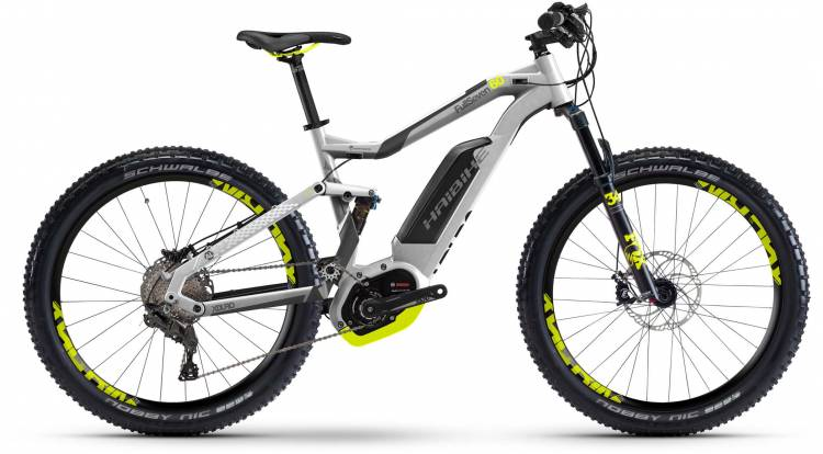 Haibike XDURO FullSeven 6.0 500Wh silber/anthr./lime matt 2017 - E-Bike Fully Mountainbike