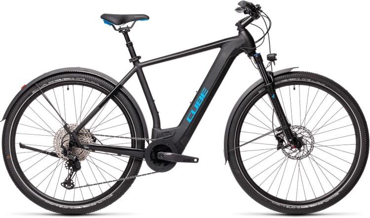 Cube Cross Hybrid Race 625 Allroad black n blue 2021 - E-Bike Crossrad Herren