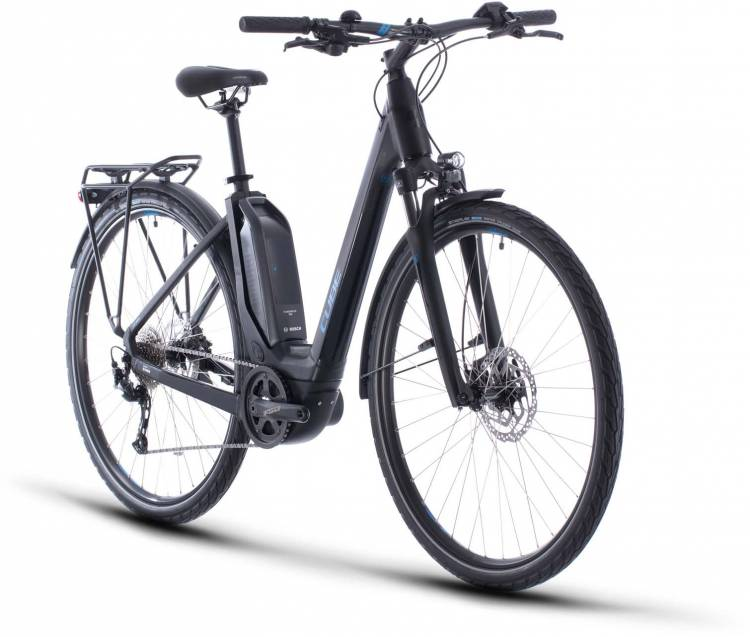 Cube Touring Hybrid ONE 500 black n blue 2020 - E-Bike Trekkingrad Tiefeinsteiger