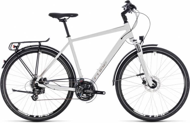 Cube Touring Pro white n silver 2018 - Herren Trekkingrad