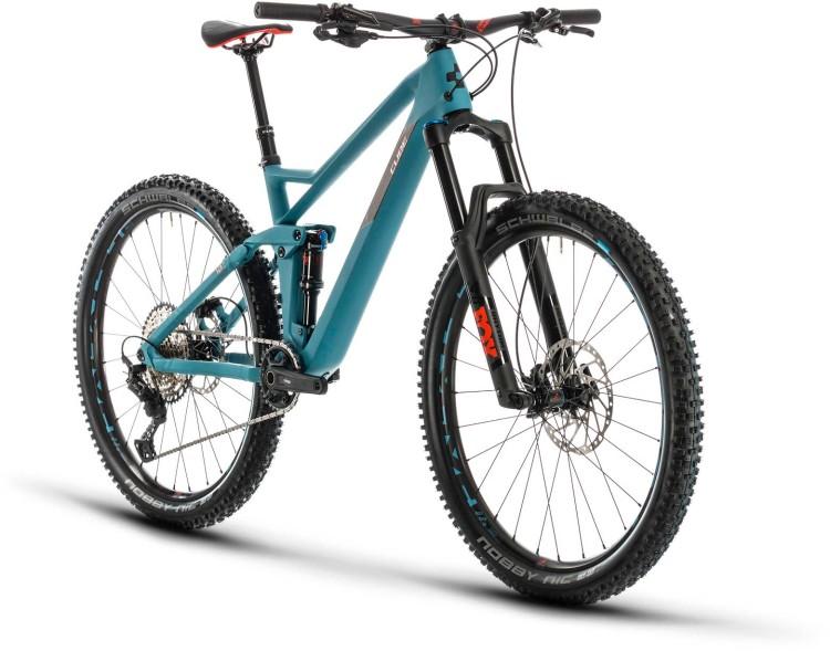 Cube Stereo 140 HPC Race 27.5 bluegrey n red 2020 - Fully Mountainbike
