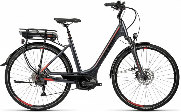 Cube Touring Hybrid 500 grey n red Damen - Easy Entry 2016