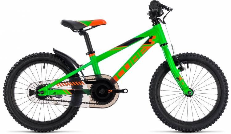 Cube Kid 160 flashgreen n orange 2018 - Kinderrad 16 Zoll