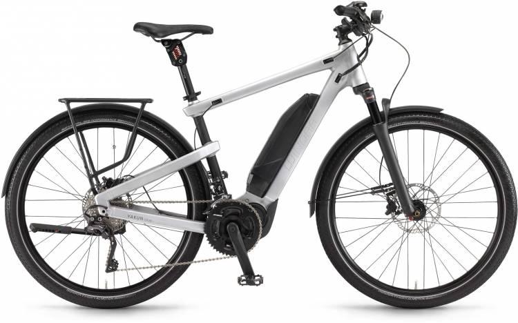 "Winora Yakun tour 500Wh 28"" silber/schwarz 2017 - Herren E-Bike Trekkingrad"