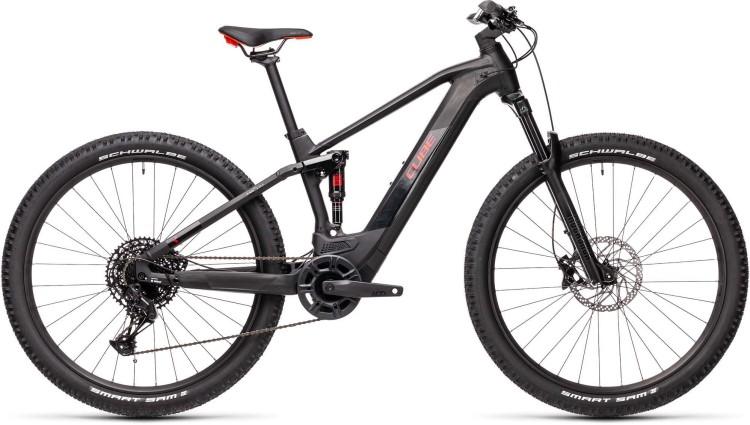 Cube Stereo Hybrid 120 Pro 500 black n red 2021 - E-Bike Fully Mountainbike