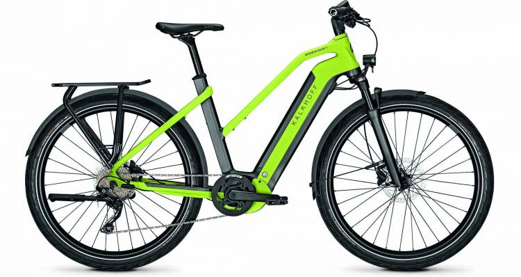 Kalkhoff Endeavour 7.B Move diamondblack/integralegreen matt (Trapez) 2020 - E-Bike Trekkingrad Dame