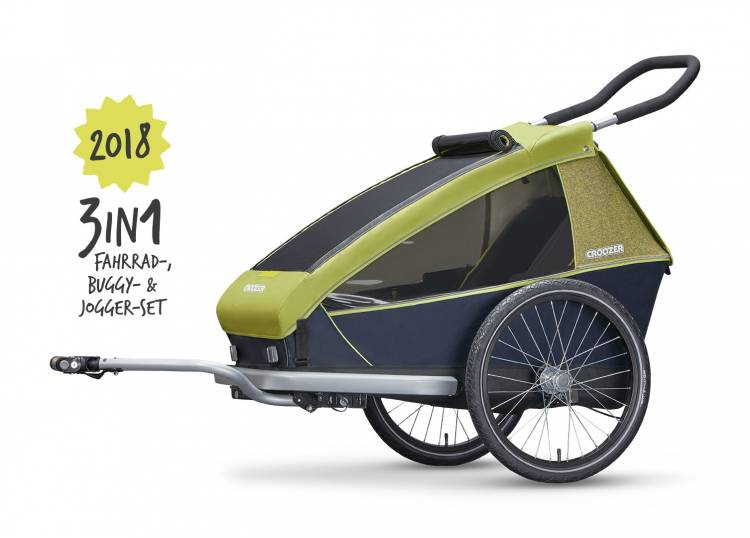 Croozer Kid for 1 Kinderfahrradanhänger 3in1
