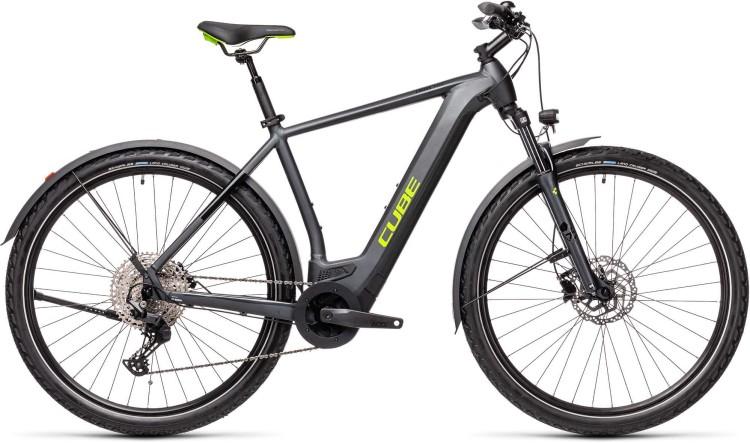 Cube Cross Hybrid Pro 625 Allroad iridium n green 2021 - E-Bike Crossrad Herren