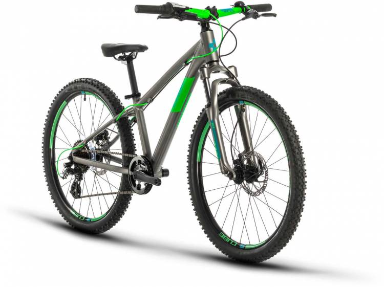 Cube Acid 240 Disc grey n neongreen 2021 - Kinderrad 24 Zoll