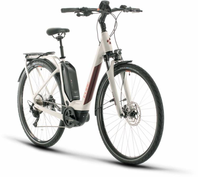 Cube Touring Hybrid Pro 500 grey n red 2020 - E-Bike Trekkingrad Tiefeinsteiger