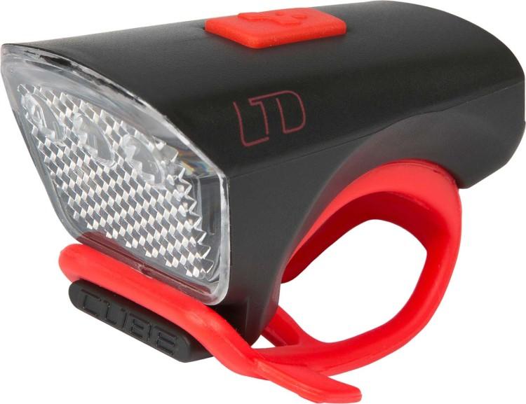 "Cube Outdoor Licht LTD ""White LED"" black n red"