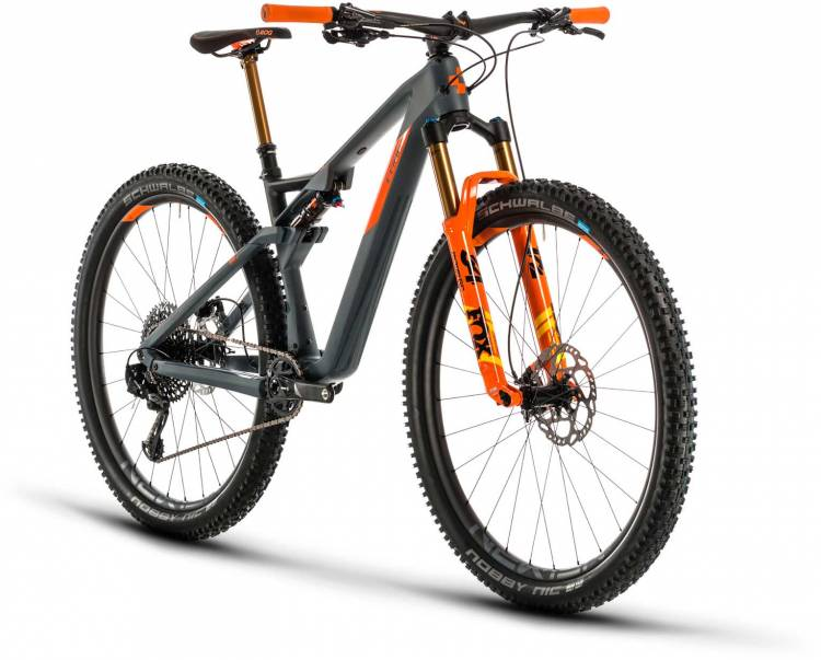 Cube AMS 100 C:68 TM 29 grey n orange 2020 - Fully Mountainbike