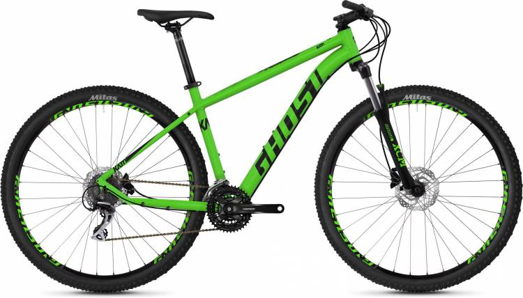 Ghost Kato 3.9 AL U riot green / night black 2020 - Hardtail Mountainbike