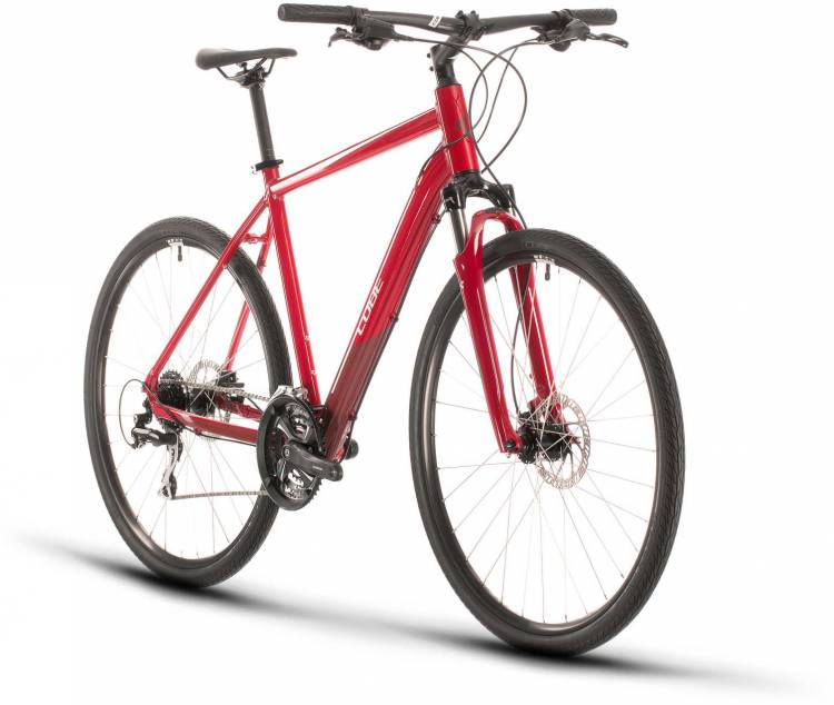 Cube Nature red n grey 2020 - Crossrad Herren