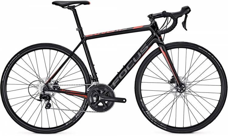 Focus Cayo Disc 105 carbon/red/grey 2017 - Herren Carbon Rennrad