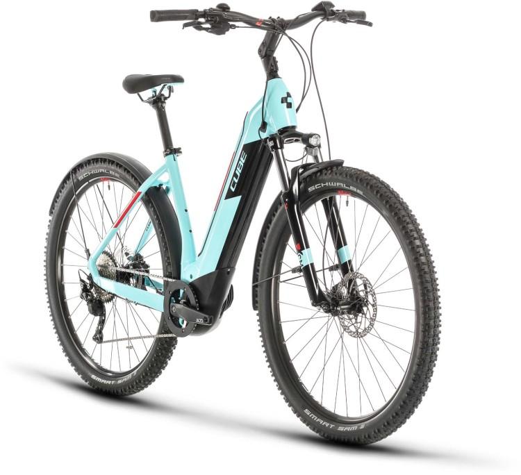 Cube Nuride Hybrid Pro 625 Allroad glacierblue n red 2020 - E-Bike Hardtail Mountainbike