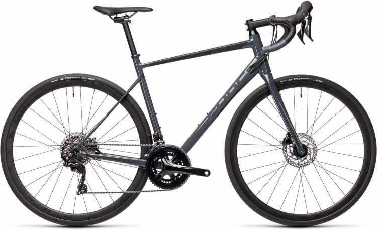Cube Attain SL grey n black 2021 - Aluminium Rennrad Herren