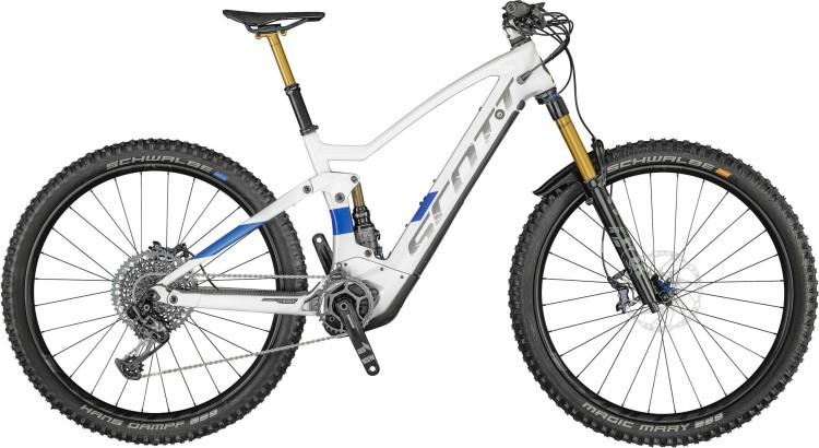 Scott Genius eRIDE 900 Tuned pearl snow white / prism blue 2021 - E-Bike Fully Mountainbike
