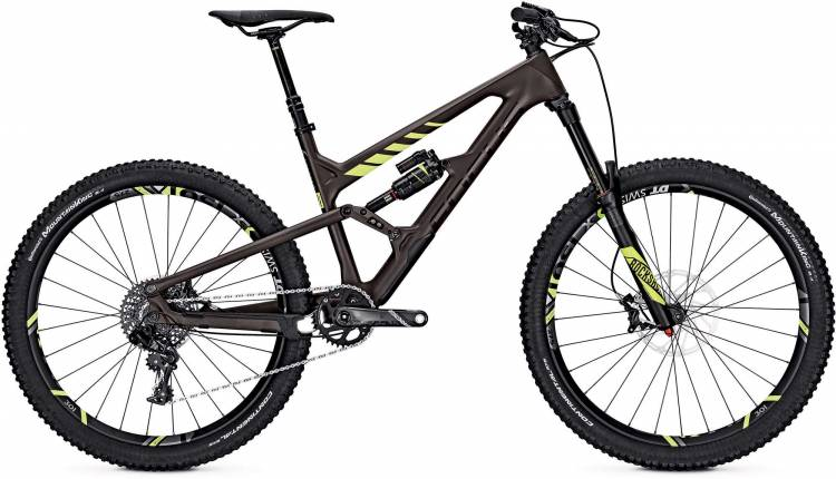 Focus Sam C Factory 27 brown/fl.yellow 2017 - Fully Mountainbike