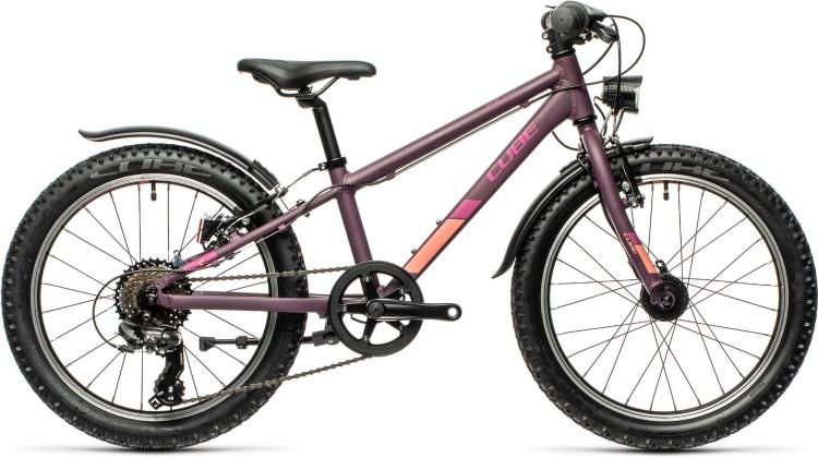 Cube Acid 200 Allroad purple n orange 2021 - Kinderrad 20 Zoll
