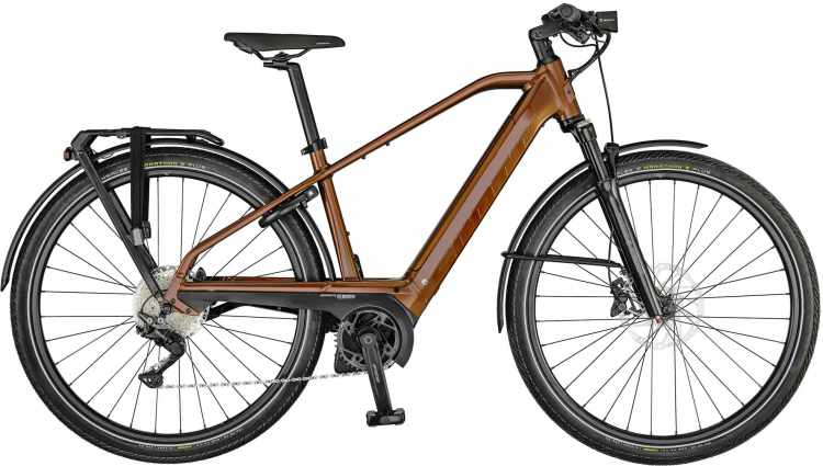 Scott Silence eRIDE 30 Men dark ochre / eclipse blue 2021 - E-Bike Trekkingrad Herren