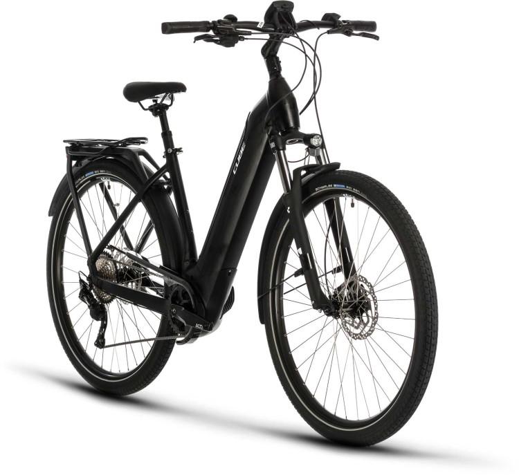 Cube Kathmandu Hybrid Pro 500 black n white 2020 - E-Bike Trekkingrad Tiefeinsteiger
