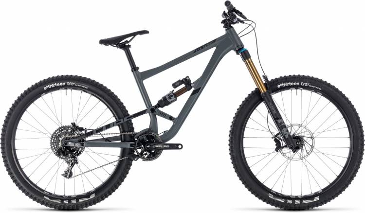 Cube Hanzz 190 TM 27.5 grey n black 2018 - Fully Mountainbike