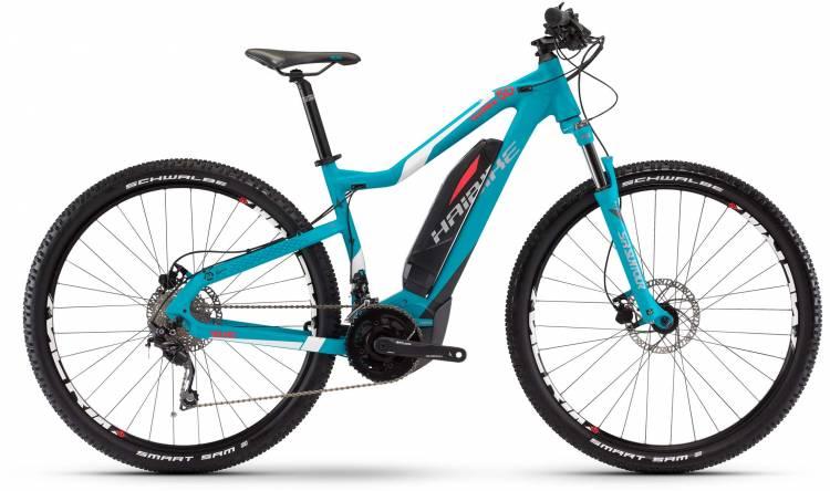 Haibike SDURO HardNine 5.0 400Wh cyan/anthrazit/weiß matt 2017 - E-Bike Hardtail Mountainbike