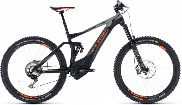 Cube Stereo Hybrid 140 TM 500 27.5 black n orange 2018 - E-Bike Fully Mountainbike