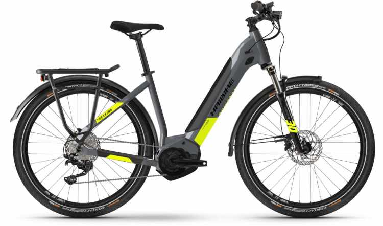 Haibike Trekking 6 i500Wh cool grey/red 2021 - E-Bike Trekkingrad Tiefeinsteiger